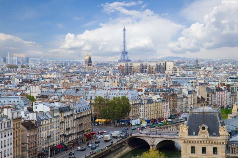 Skyline of Paris, France stock images