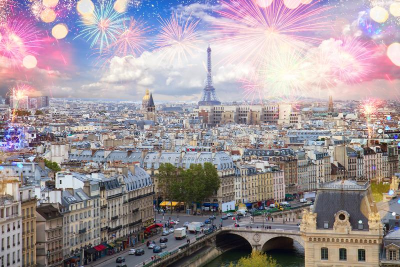 Skyline of Paris, France royalty free stock photography