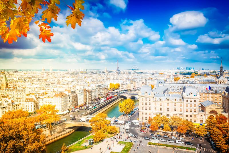 Skyline of Paris, France royalty free stock images