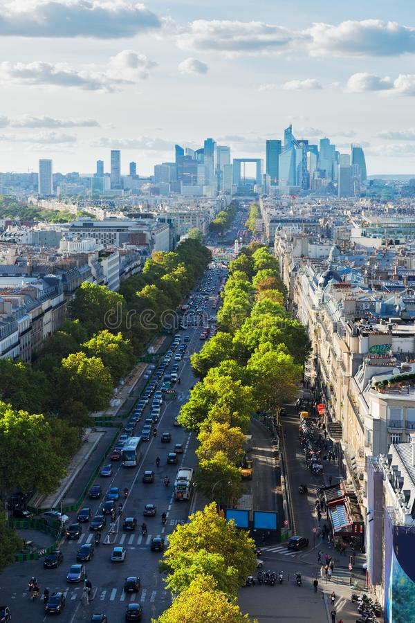 Skyline of Paris, France royalty free stock image