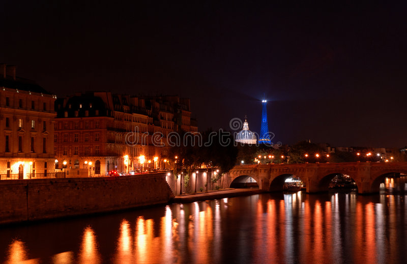 Download Skyline of Paris by night stock image. Image of cityscape - 6684585