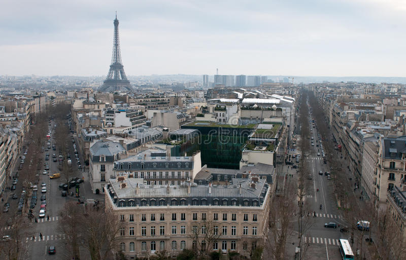 Skyline of Paris stock image