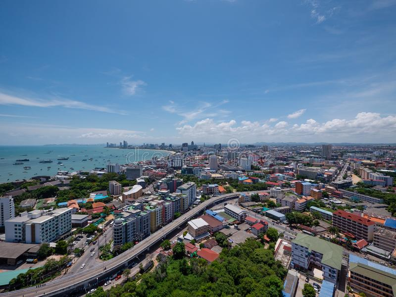 The skyline of Pattaya, Thailand stock images