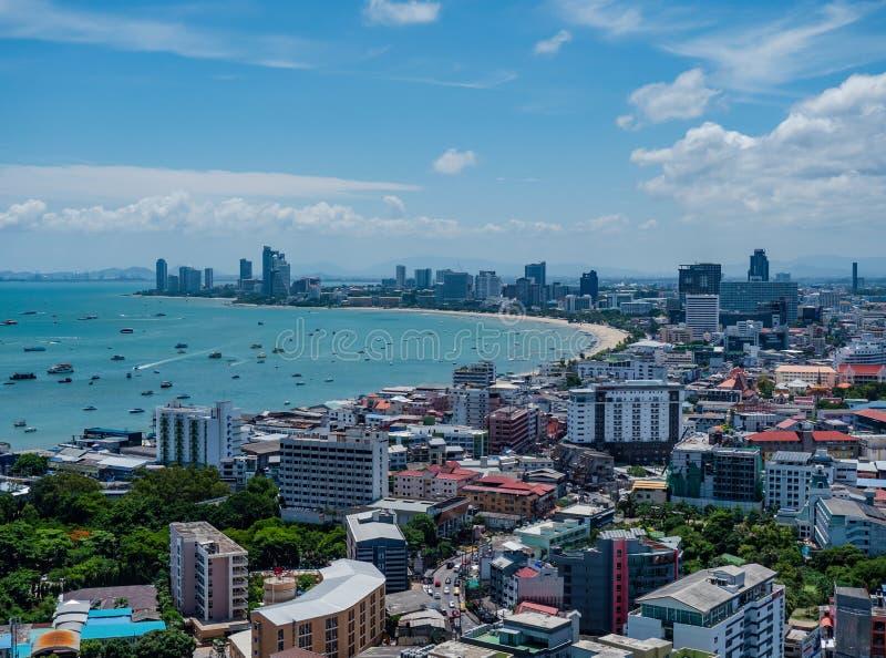 The skyline of Pattaya, Thailand stock photo