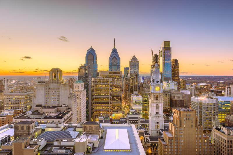Skyline Philadelphias, Pennsylvania, USA lizenzfreie stockfotos