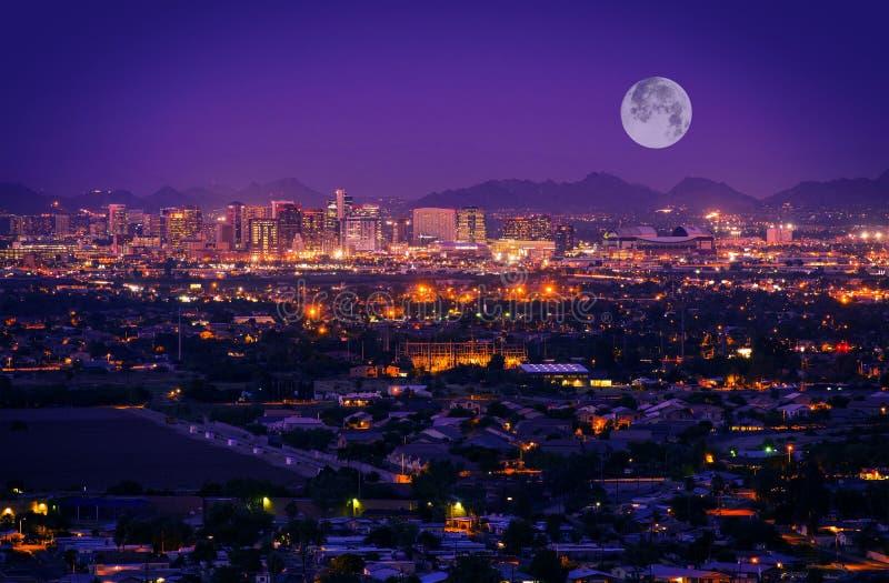 Skyline Phoenix Arizona lizenzfreies stockbild