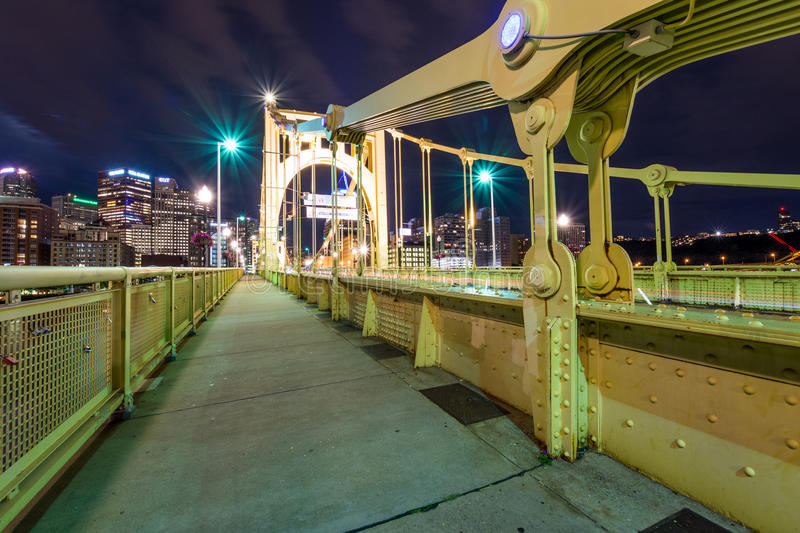 Skyline of Pittsburgh, Pennsylvania fron Allegheny Landing across the Allegheny River.  royalty free stock image