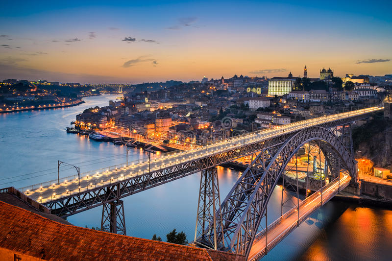 Skyline of Porto, Portugal stock photos