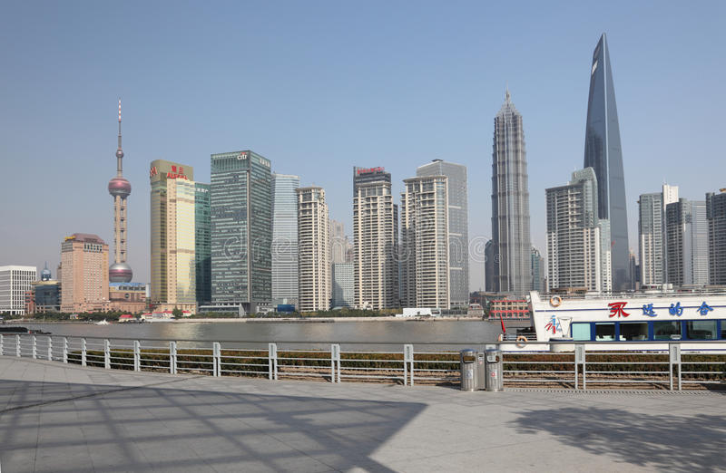 Download Skyline Of Pudong, Shanghai Editorial Stock Photo - Image: 18129138