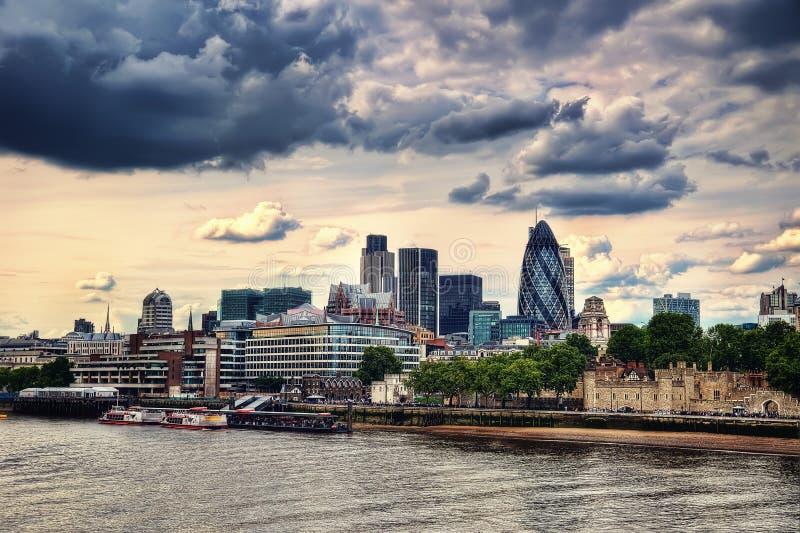 Skyline Reino Unido de Londres fotografia de stock royalty free