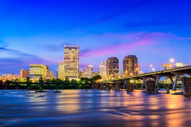 Skyline Richmond-Virginia stockfotografie