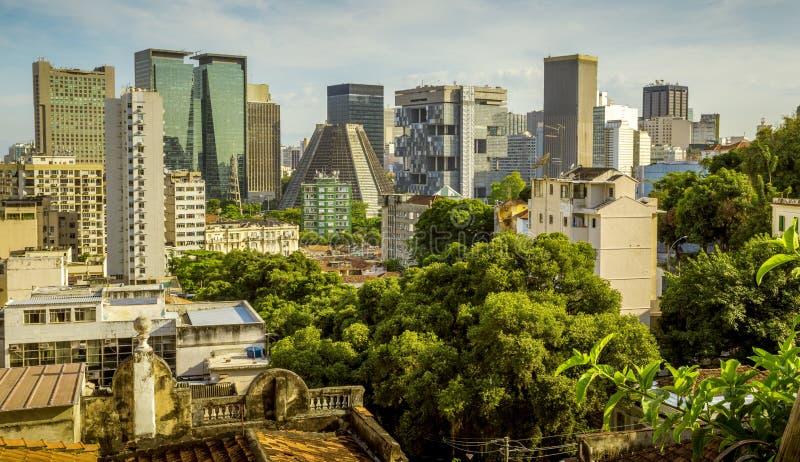 Skyline of Rio de Janeiro downtown, Brazil. Skyline of Rio de Janeiro city center, Brazil stock photo
