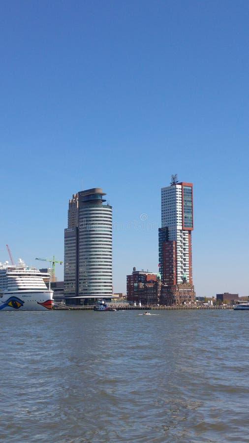 Skyline Rotterdam fotos de stock royalty free