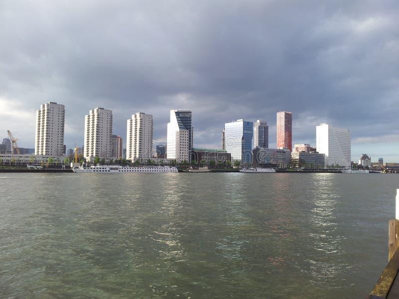Skyline Rotterdam stockbild