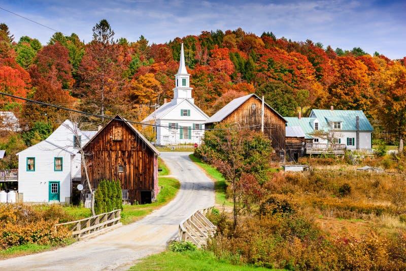 Skyline rural de Vermont EUA fotos de stock