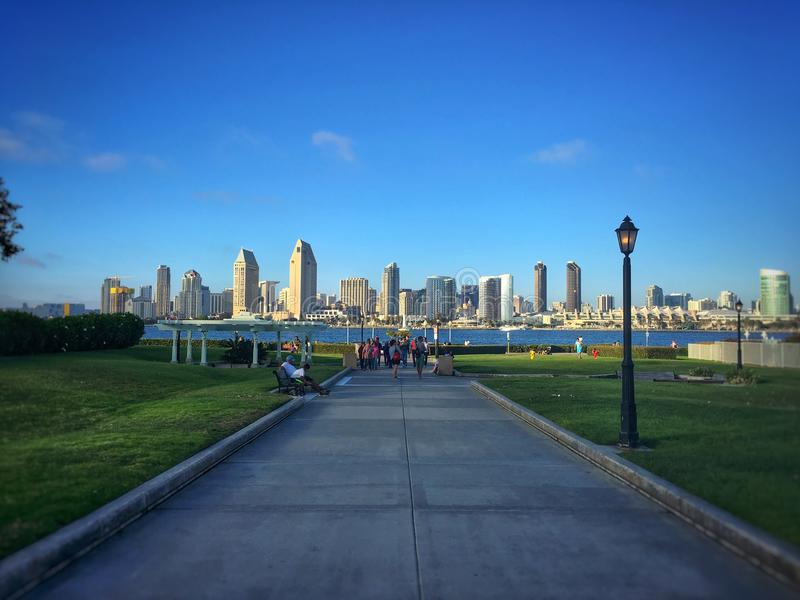 San Diego skyline. Skyline of San Diego from across the water royalty free stock images