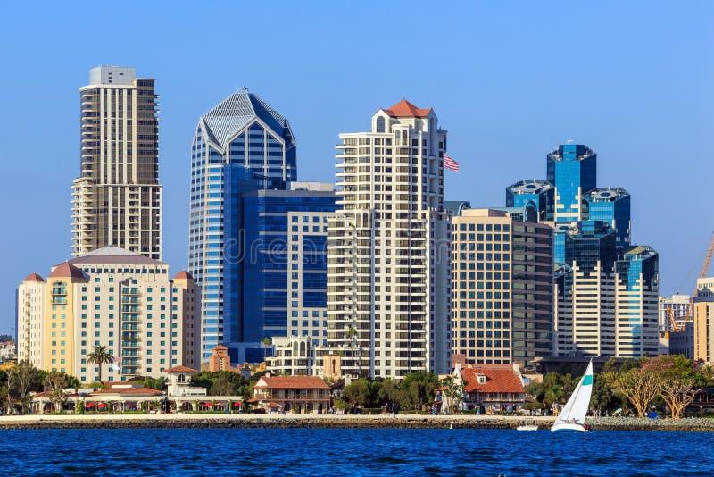 Skyline of San Diego, California from Coronado Bay. USA stock photos