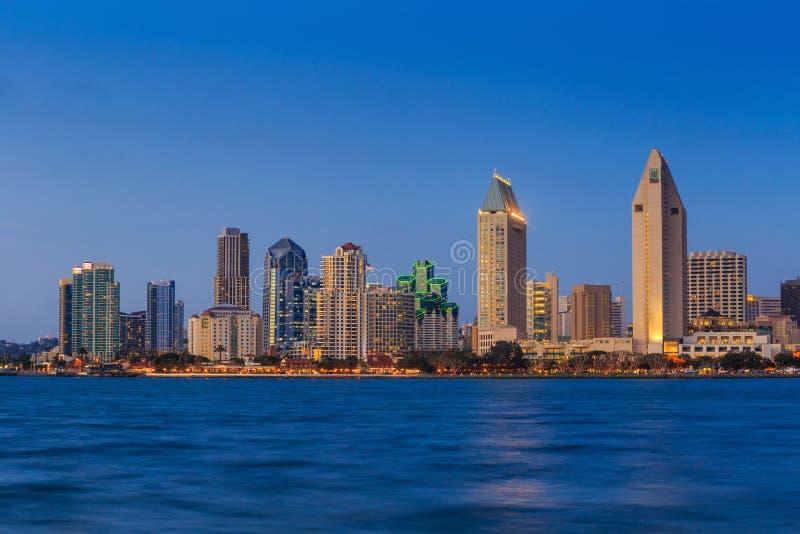 Skyline of San Diego, California from Coronado Bay. USA stock images