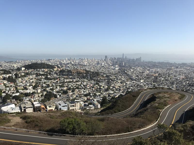 Skyline of San Francisco from Twin Peaks royalty free stock images