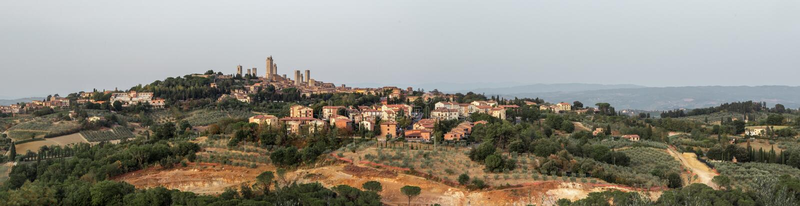 Skyline San Gimignano stockfoto