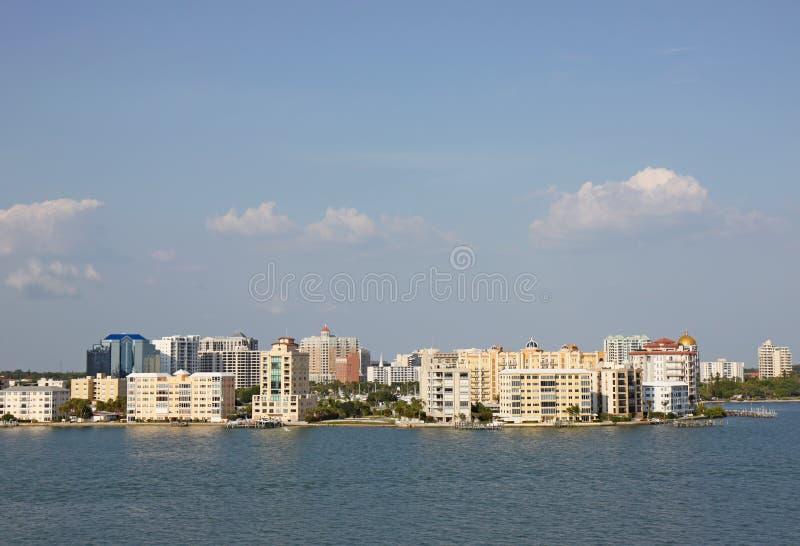 Skyline of Sarasota, Florida stock photography