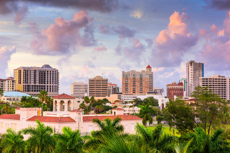 Skyline Sarasota Florida lizenzfreie stockfotos