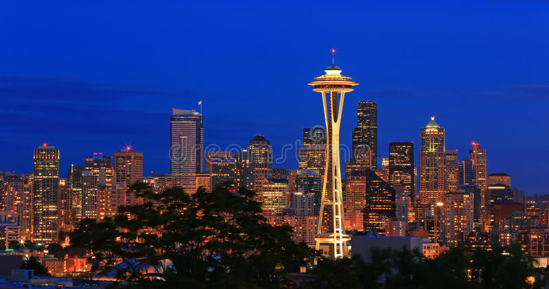 Skyline Seattle foto de stock royalty free