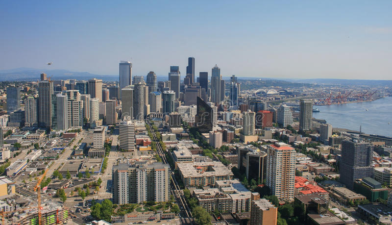 Download Skyline of Seattle stock photo. Image of background, skyscraper - 98513060