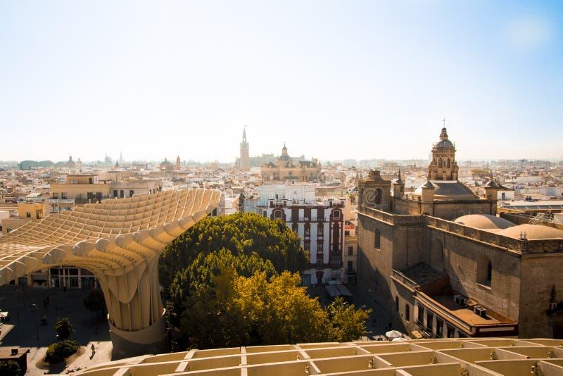 Skyline of Seville city in Spain