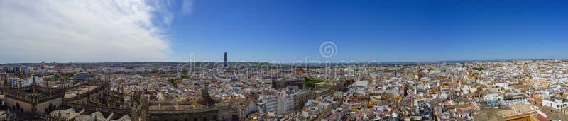 Skyline of Seville stock photography