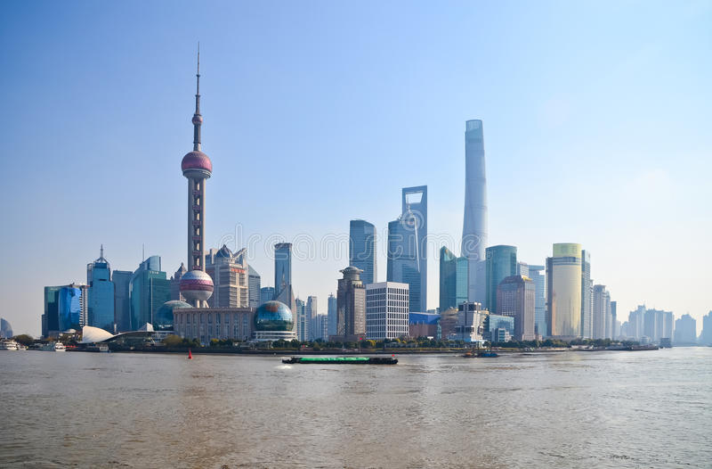 Skyline Shanghais China stockbilder