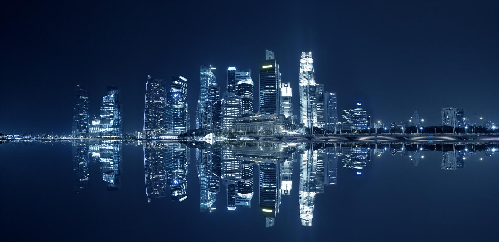 Download The skyline of Singapore stock photo. Image of bank, landscape - 25576532