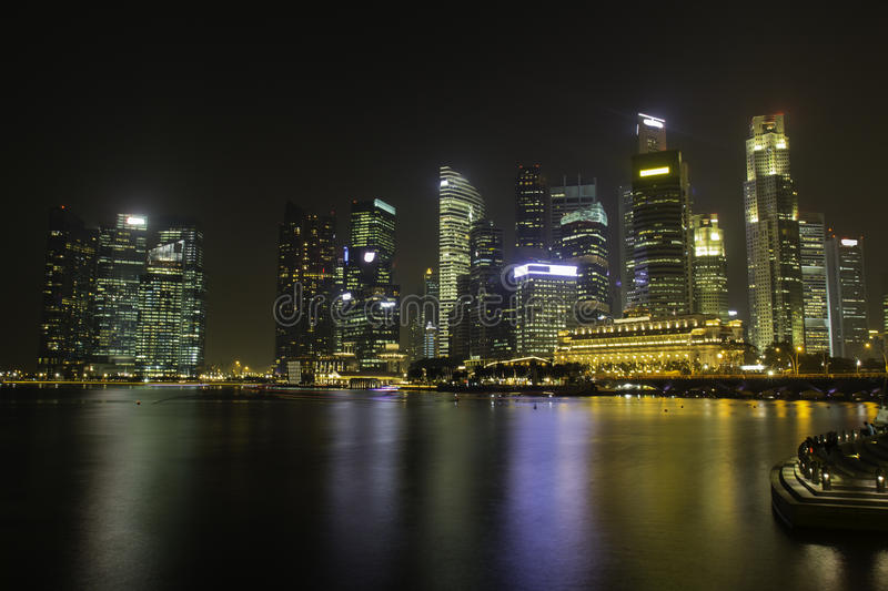 Download Skyline of Singapore stock photo. Image of city, reflection - 33520370