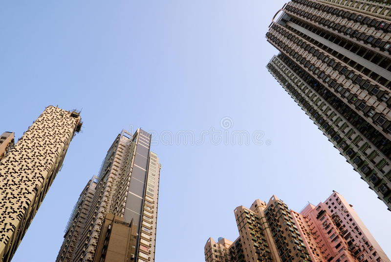 Skyline of skyscraper royalty free stock images