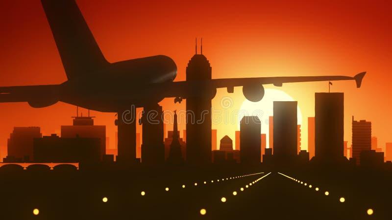 Skyline-Sonnenaufgang-Landung Indianapolis Indiana USA Amerika stockfotos