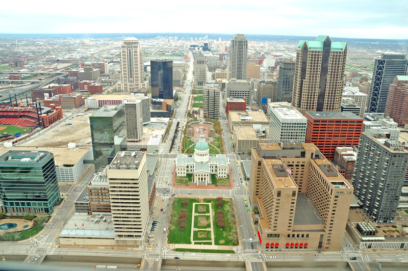 Download Skyline of St. Louis stock image. Image of modern, overview - 4986029
