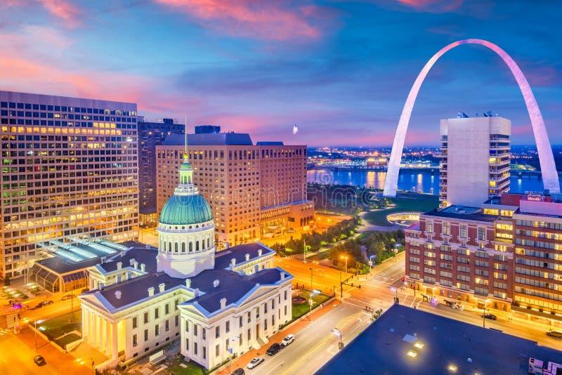 Skyline St. Louis, Missouri, USA lizenzfreie stockbilder