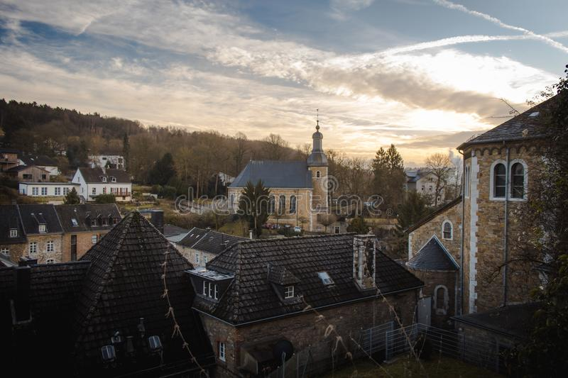 Skyline Stolberg in Harz mountains royalty free stock images