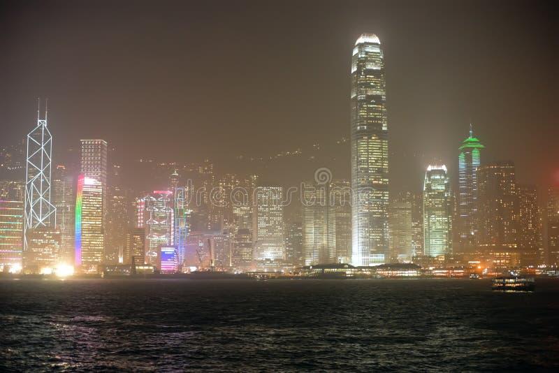 Skyline surpreendente de Hong Kong fotos de stock royalty free