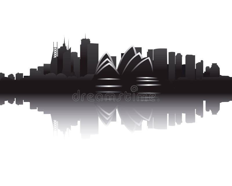 Skyline of Sydney royalty free illustration