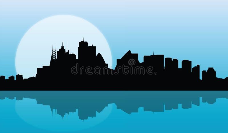 Skyline sydney sunrise vector stock illustration