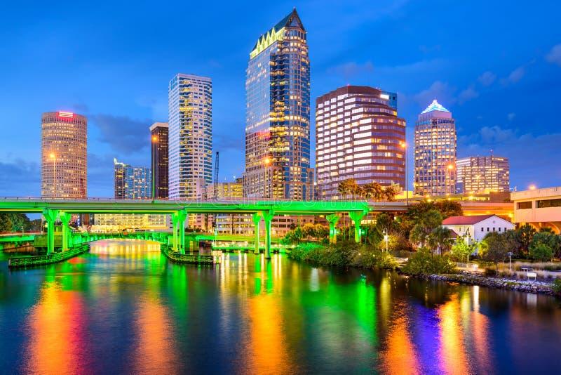 Skyline Tampa-, Florida stockfotografie