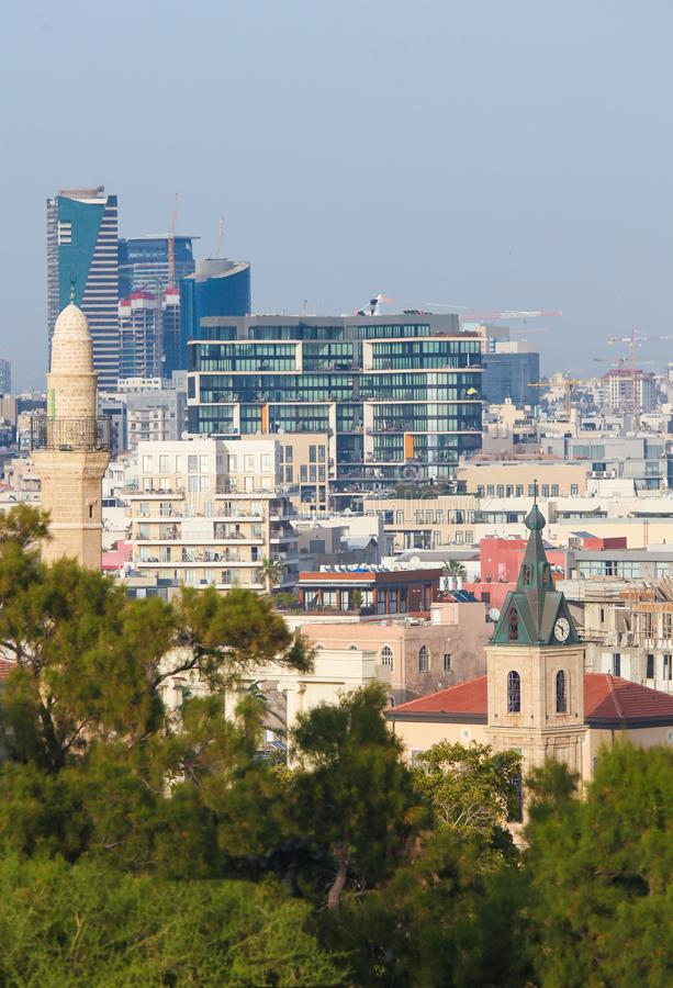 View on Jaffa and the Skyline of Tel Aviv, Israel royalty free stock photos