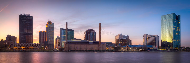 Skyline Toledo-Ohio stockfotografie