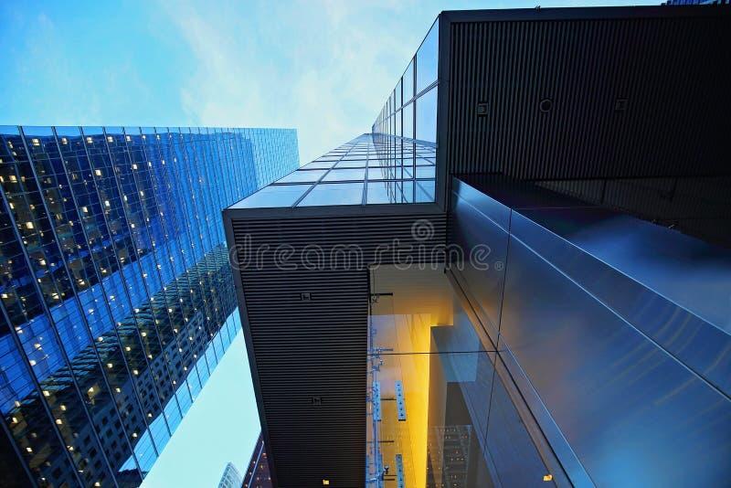 Toronto financial district skyline. Skyline of Toronto financial district stock images