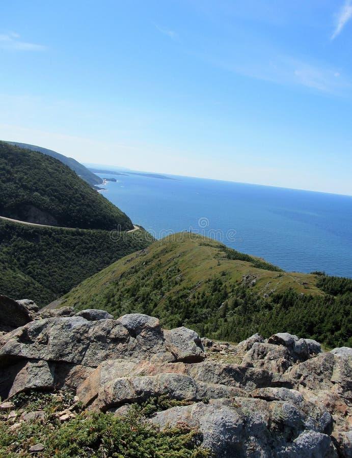 Skyline Trail Cape Breton. Atop the Skyline Trail on Cape Breton Island stock photos