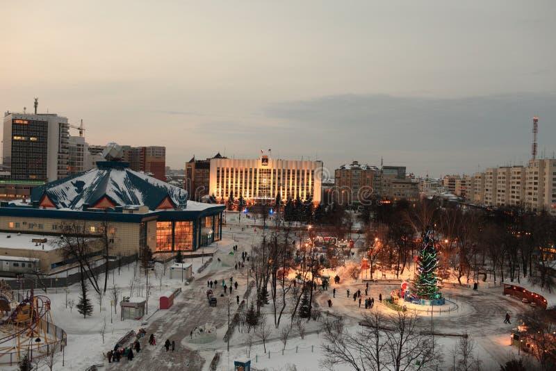 Download Skyline of Tyumen at night stock photo. Image of large - 28767562