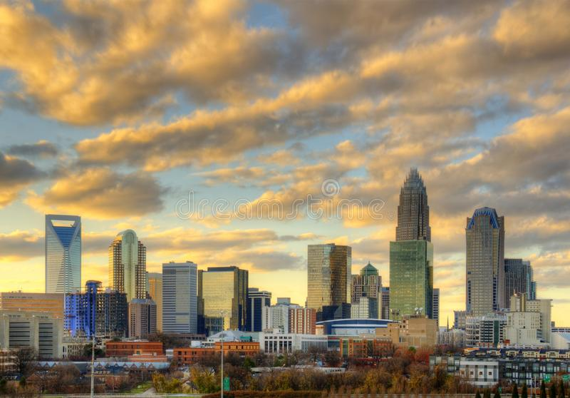 Download Skyline Of Uptown Charlotte Stock Photo - Image of cityscape, dawn: 22564502