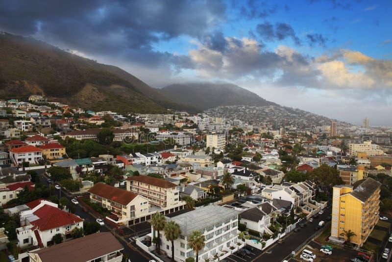 Skyline urbana da cidade, Cape Town, África do Sul. fotografia de stock royalty free