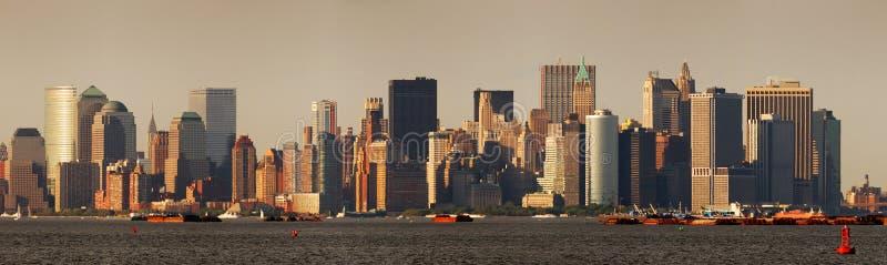 Skyline urbana da cidade. Panorama de New York City imagens de stock